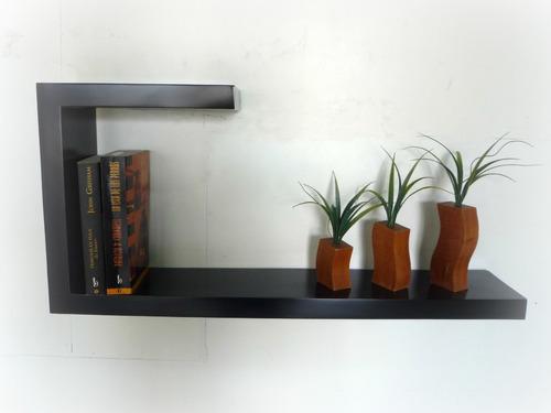 repisas flotantes minimalistas, forma  j , muebles el angel