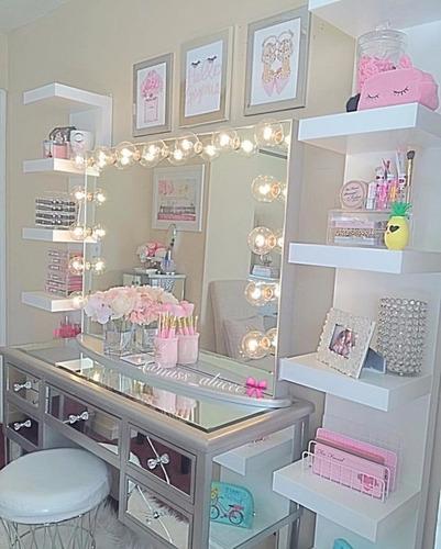 repisas flotantes modernas organizador maquillaje