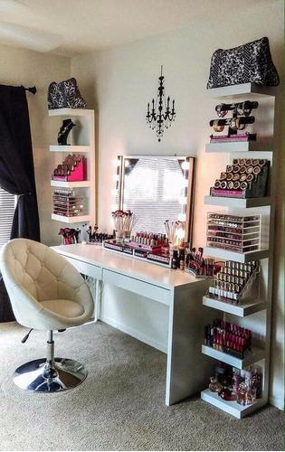 repisas flotantes modernas organizador maquillaje entrga inm