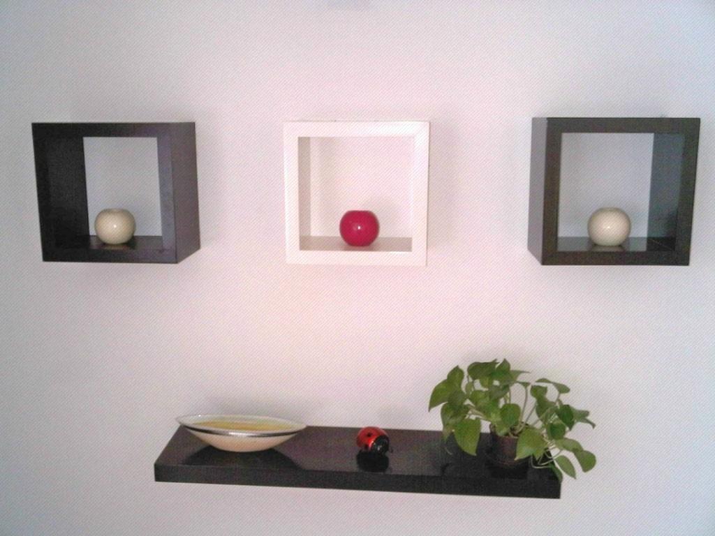 Repisas juegos de 3 cubos muebles decorativos 100 mdf - Repisas de pared modernas ...