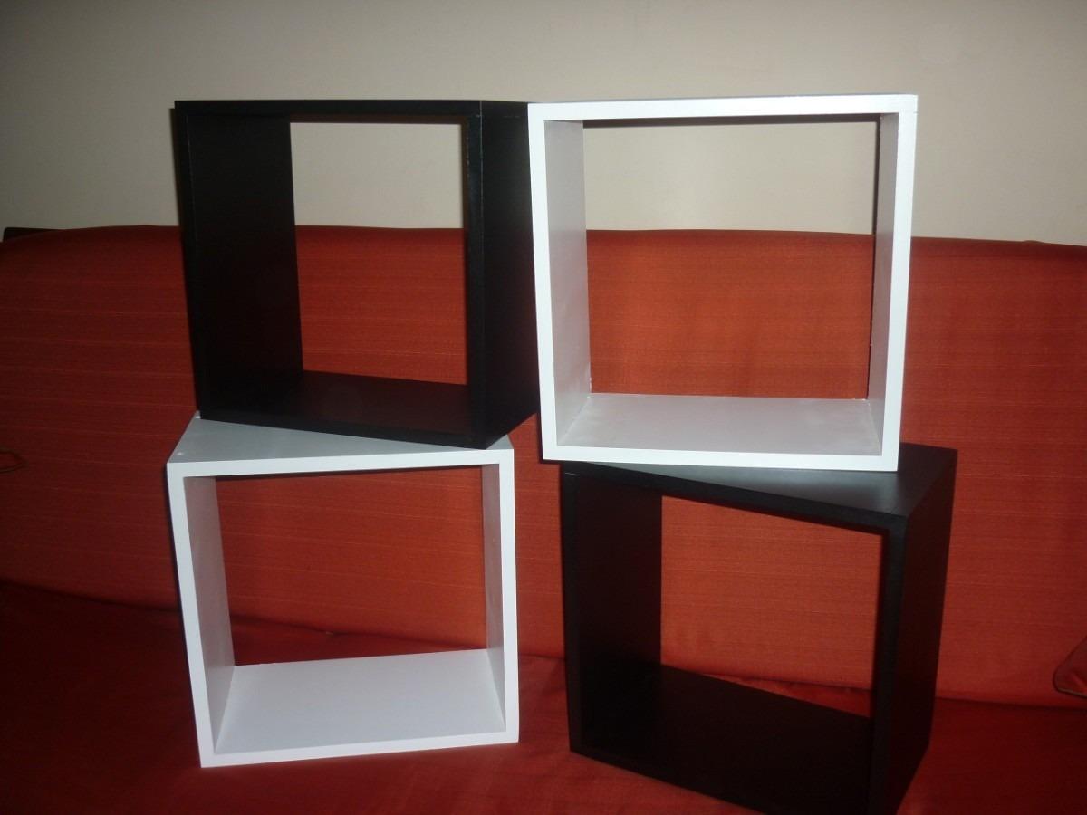 repisas juegos de 3 cubos muebles decorativos 100 mdf