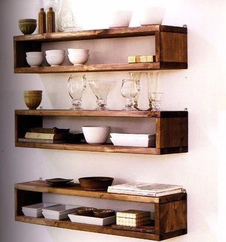 Repisas minimalistas para cocinas bs en Decoracion de cocinas pequenas con repisas
