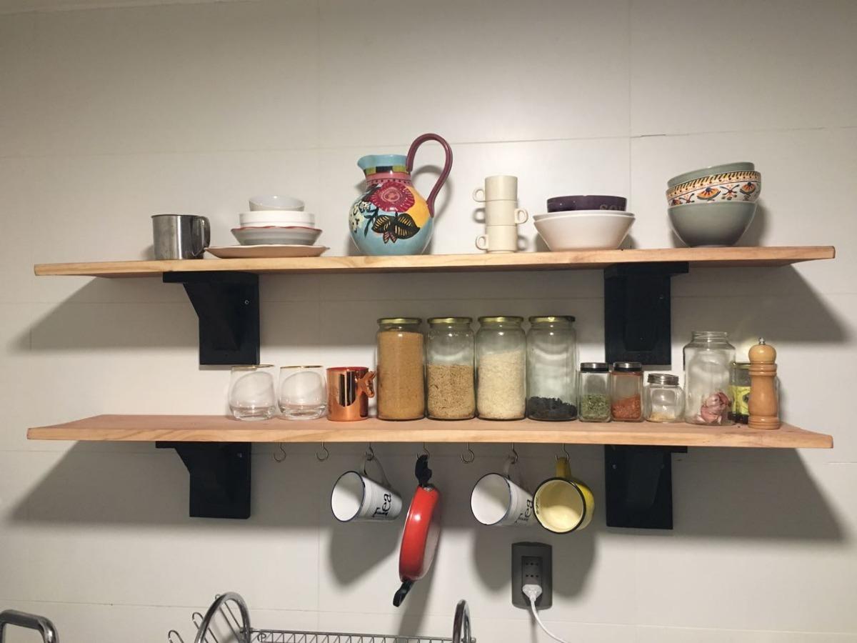 Repisas rusticas para cocina atelier ari en for Repisas rusticas para cocina
