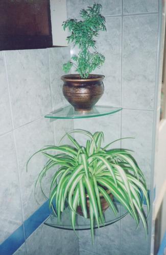 repisas y esquineros en vidrio (cristal), sistema exclusivo