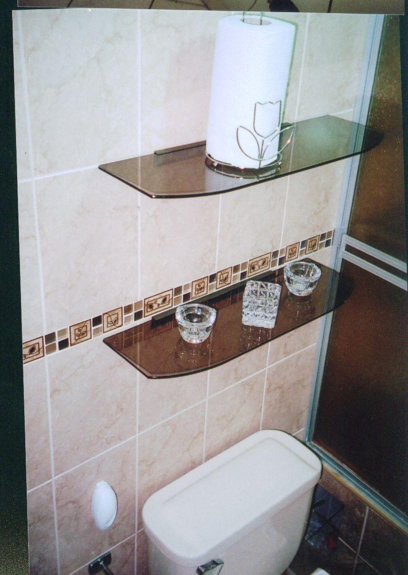 Repisas y esquineros flotantes de vidrios para ba os s Repisas pequenas para bano