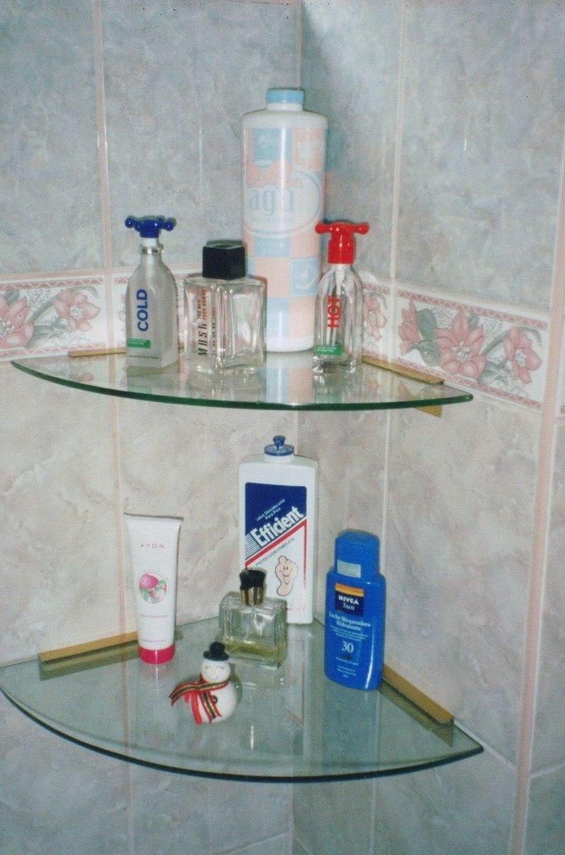 Repisas y esquineros flotantes de vidrios para ba os s for Espejo con repisa para bano