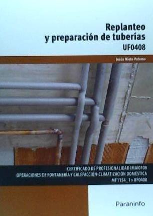 replanteo y preparación de tuberías. certificados de profesi
