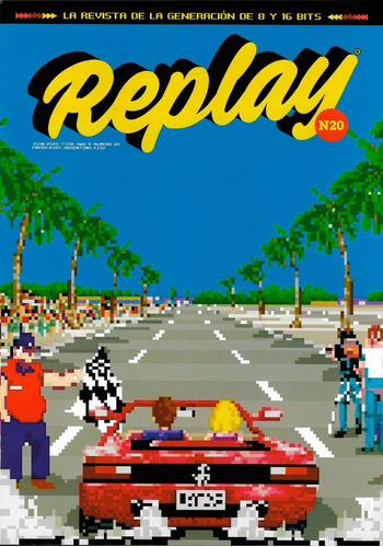 replay #20 - videojuegos retro - out run - poster asterix