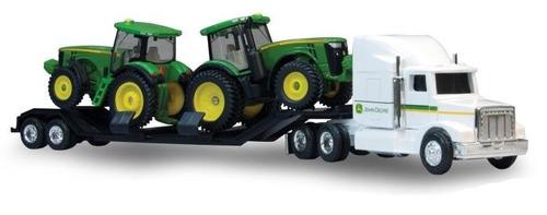 replica 8r camion y dos tractores john deere original 1:64