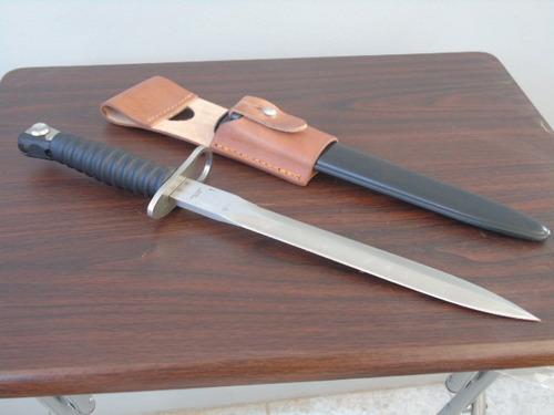 réplica bayoneta fusil sig 510 con tahali (lea descripción)