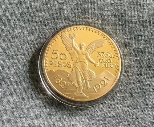 réplica centenario baño de oro 24k
