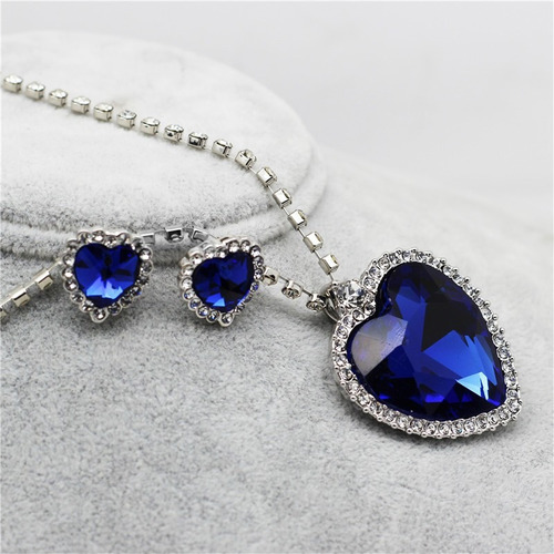 replica exacta ! collar titanic + aretes gratis amor corazon