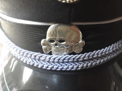 réplica gorra militar alemania negra.