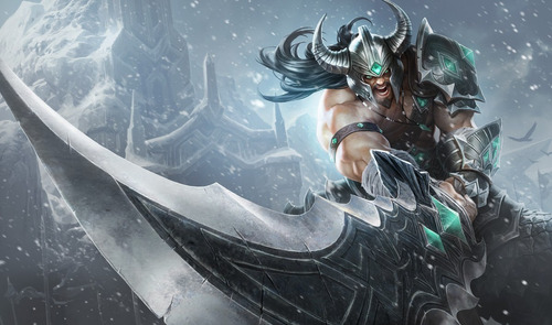 réplica llavero league of legends tryndamere