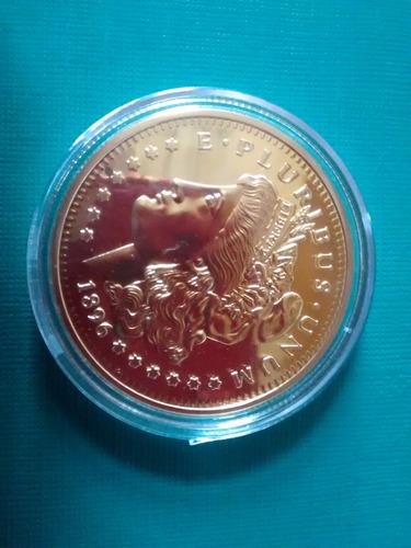 replica medalla morocota siglo 19