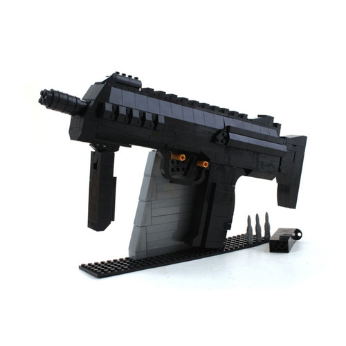 replica para armar rifle mp7  compatible lego 300 pzas