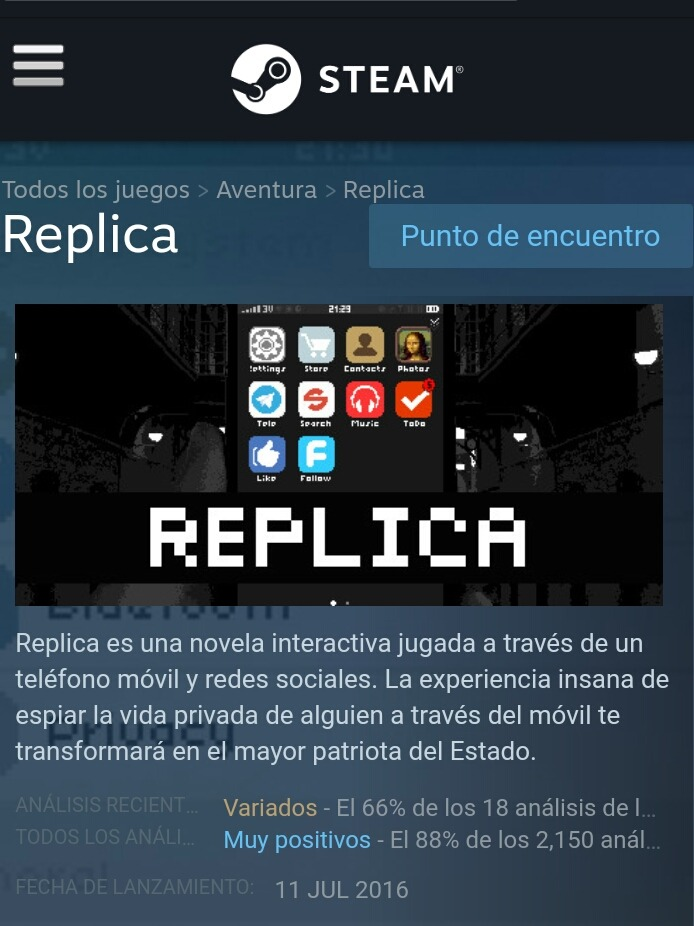 Replica - Steam Key - Pc - Oferta