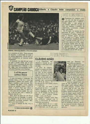 reportagem placar fluminense campeão carioca 1980