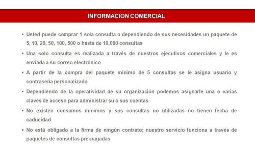 reporte de buro legal para empresa - asociado - inquilino