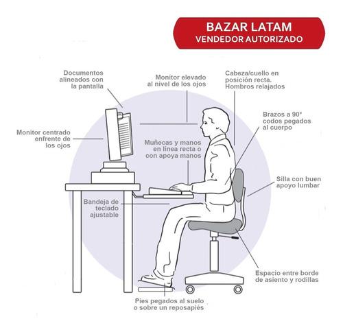 reposa apoya pies ergonomico aidata rojo gris tension pierna