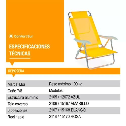 reposera 6 posiciones reclinable  15167 **10