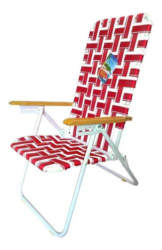 reposera alta solcito silla playera acero 7/8 5 posiciones