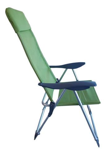 reposera aluminio 5 posiciones verde