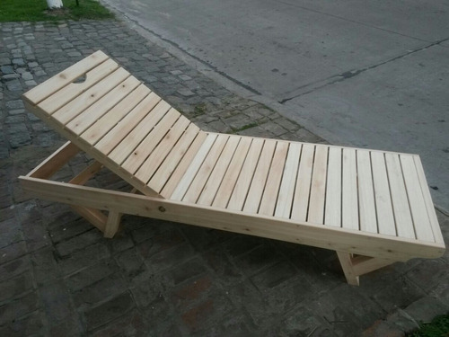 reposera camastro de madera