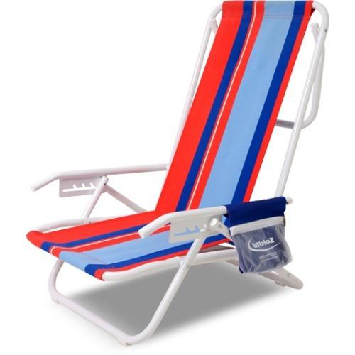 reposera de playa de cinco posiciones, tela acrílica