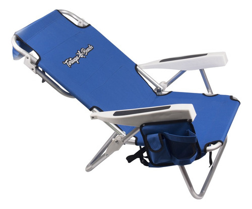 reposera mochila de playa tommy beach 5 posic bolso termico