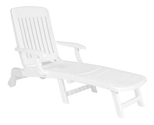 reposera plástica garden life jamaica f7500 blanca