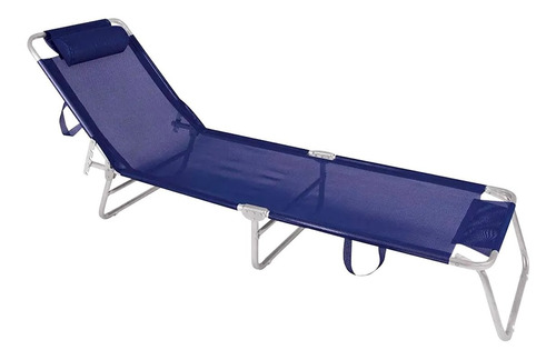 reposera playa pileta cama reclinable aluminio reforzada