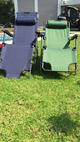reposera plegable playa, jardin, camping reclinable 100% cro