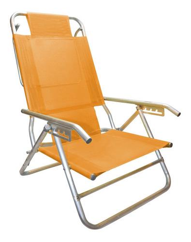 reposera silla aluminio 5 posiciones coversol