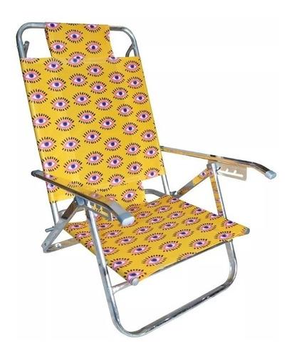 reposera silla aluminio 5 posiciones coversol estampados