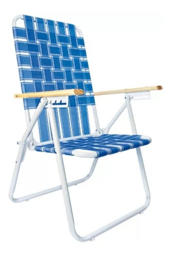 reposera silla caño 1  5 posiciones cintas plasticas