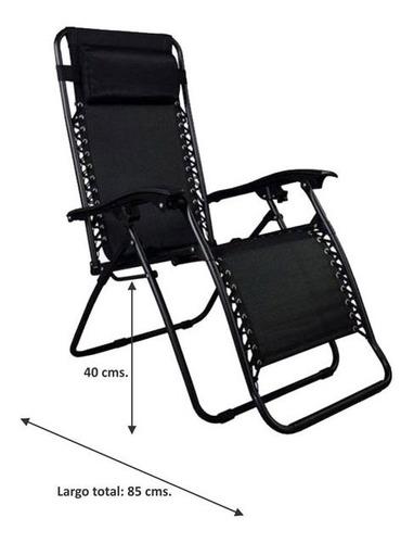 reposera silla sillon caño acero textileno gravedad cero