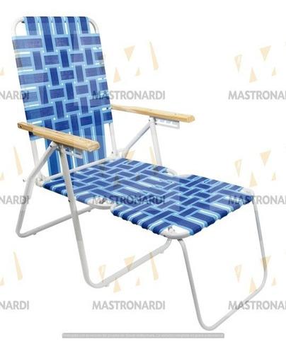 reposera sillón con apoyapies plegable descansar 20004 caño