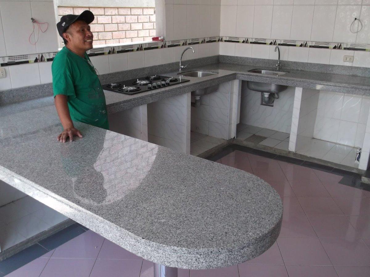 Repostero de cocina de melamina y encimera de granito s for Encimera cocina marmol o granito
