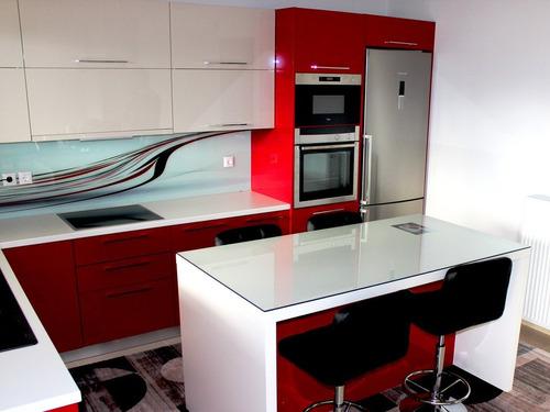 Repostero de cocina de melamina y encimera de granito s for Tecnicas modernas de cocina