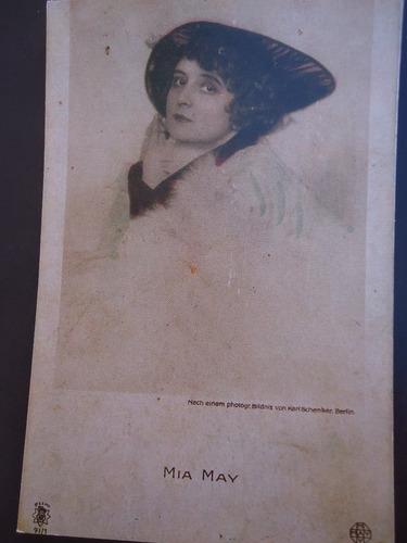 reproduccion de antigua  postal mia may  imp.españa