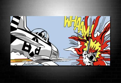reproduccion lichtenstein warhol  comic 90x90 envio gratis