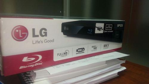 reproductor blu-ray lg usb fullhd bp125 nuevo