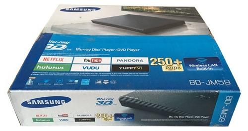 reproductor blu ray samsung smart jm-59 full hd dvd wifi 3d