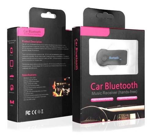 reproductor bluetooth audio musica carro manos libres aux