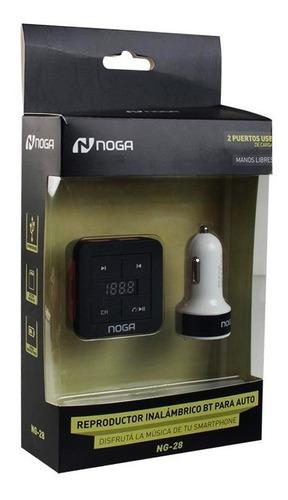 reproductor bluetooth para auto noga ng-28 inalambrico 2 usb