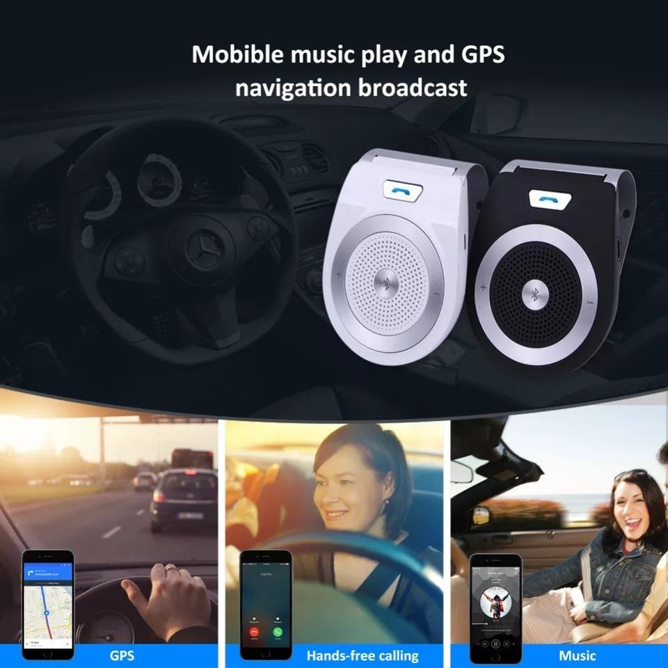 Wmaple Mechero USB Bluetooth Reproductor MP3 de Carga Dual del Coche Multi-funci/ón de Manos Libres de Llamadas Mini Altavoz