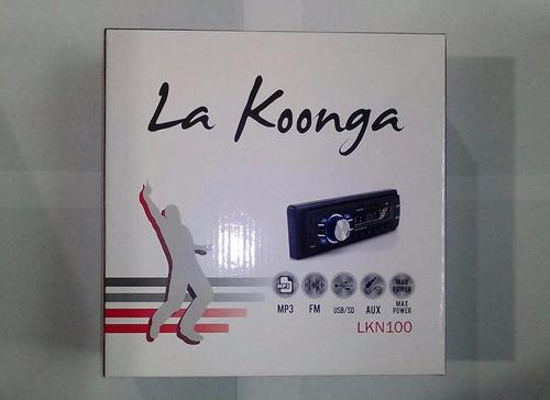 reproductor carro koonga lkn100 musica usb sd radio mp3 +