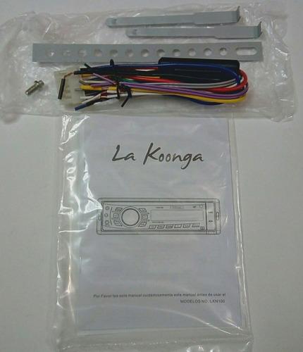 reproductor carro koonga lkn100 musica usb sd radio mp3