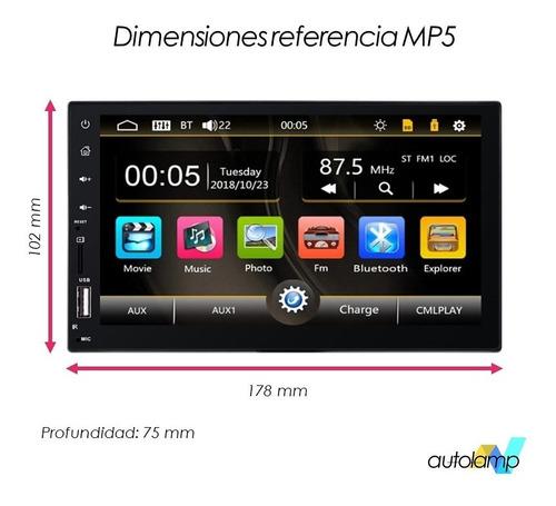 reproductor carro pantalla 7 mp5 usb bluetooth doble din